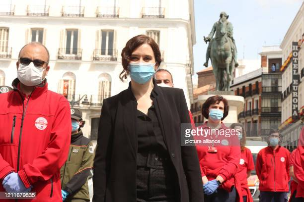 Isabel Díaz Ayuso President of the Autonomous Community of Madrid takes part in the celebration of the 2nd of May the day of rebellion against the...