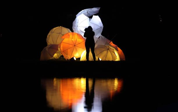 DEU: Illuminated Spa Gardens