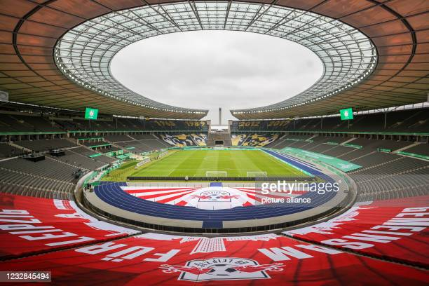 Football: DFB Cup, Before the final RB Leipzig - Borussia Dortmund at the Olympiastadion Berlin. View into the Olympic Stadium. Photo: Jan...
