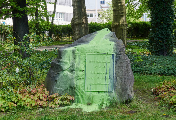 DEU: Memorial Stone For Synagogue Graffitied