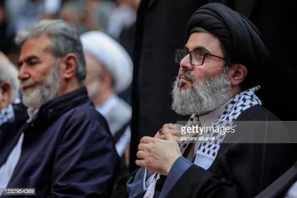 May 2021, Lebanon, Beirut: Hashim Safi Al Din , senior official of the pro-Iranian Hezbollah Shia Islamist group and cousin of Hezbollah's secretary...