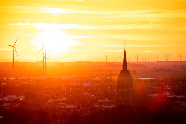 DEU: Sunrise In Northern Germany