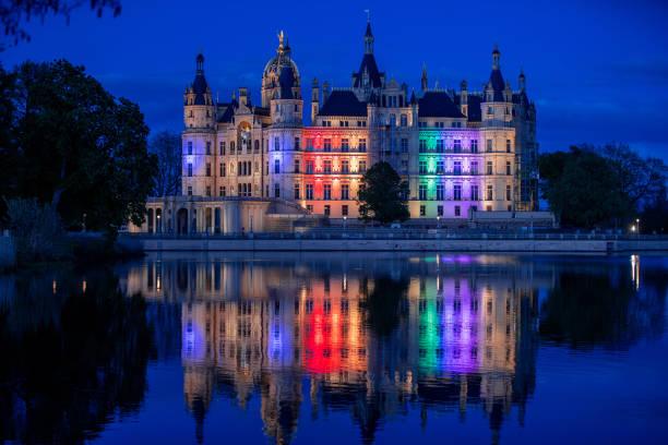 DEU: Schwerin Castle In Rainbow Colours
