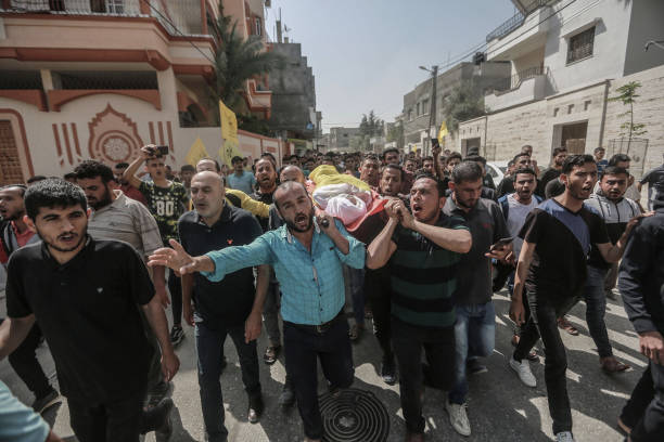 GZA: Funeral Of Palestinian Child After Israeli Air Strikes On Gaza