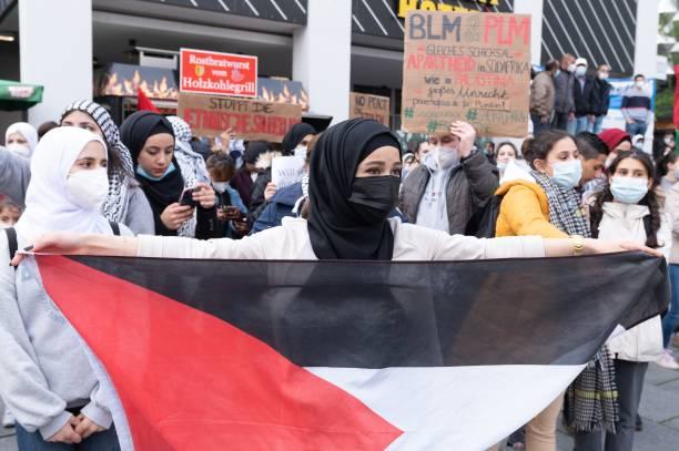 DEU: Pro-Palestinian Demonstration In Dresden