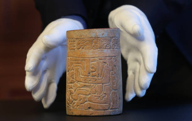 DEU: Presentation Of Maya Sculptures