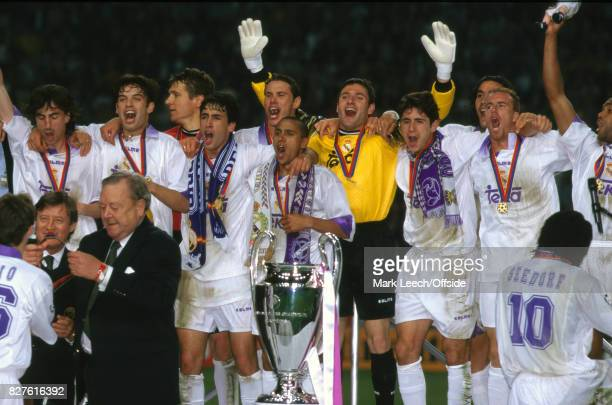 May 20th 1998 UEFA Champions League Final Real Madrid vs Juventus 'nRaul Roberto Carlos Bodo Illgner Christian Panucci Manuel Sanchis Fernando Hierro...