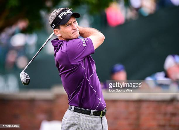 Mark Wilson tees off on number ten during first round action of the Crowne Plaza Invitational at Colonial in Ft Worth Texas