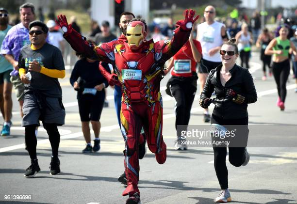 SAN FRANCISCO May 21 2018 Participants run during the 107th Bay to Breakers Race in San Franciso the United States May 20 2018 The Bay to Breakers...
