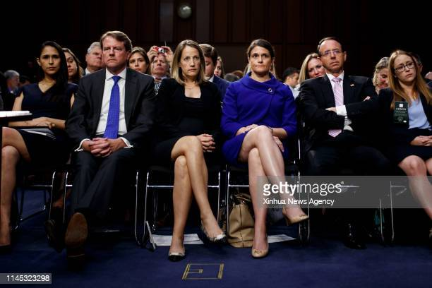 C May 21 2019 Then White House counsel Don McGahn front 2nd L reacts in the audience during the confirmation hearing for Supreme Court Justice...