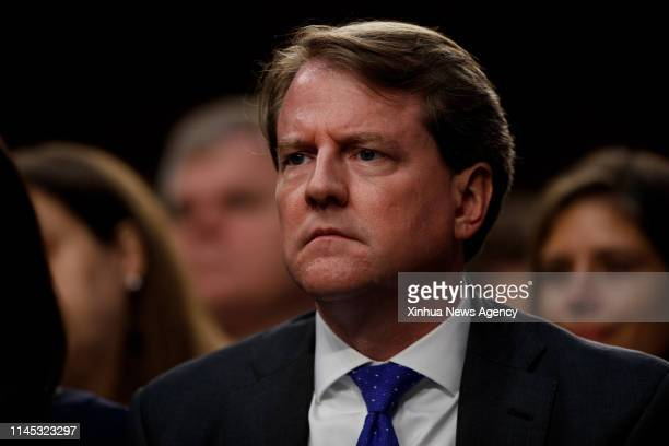 C May 21 2019 Then White House counsel Don McGahn reacts in the audience during the confirmation hearing for Supreme Court Justice nominee Brett...