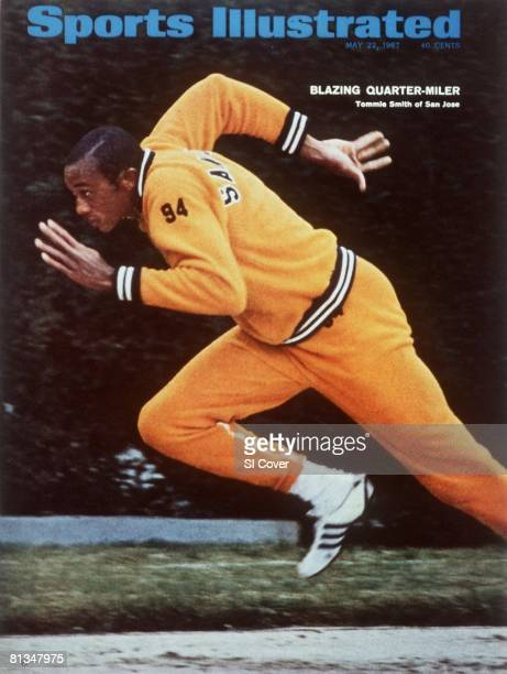 May 22, 1967 Sports Illustrated via Getty Images Cover, College Track & Field: San Jose State Tommie Smith in action during quarter-mile, San Jose,...