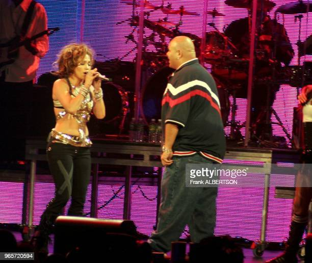 May 22 2005 Jennifer Lopez performs with Fat Joe live at Z100's Zootopia 2005 in East Rutherford NJ Photo by Frank Albertson
