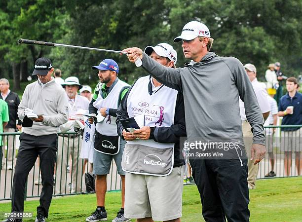 Lucas Glover prepares to tee off on No. 10 during second round action of the Crowne Plaza Invitational at Colonial in Ft. Worth, Texas.