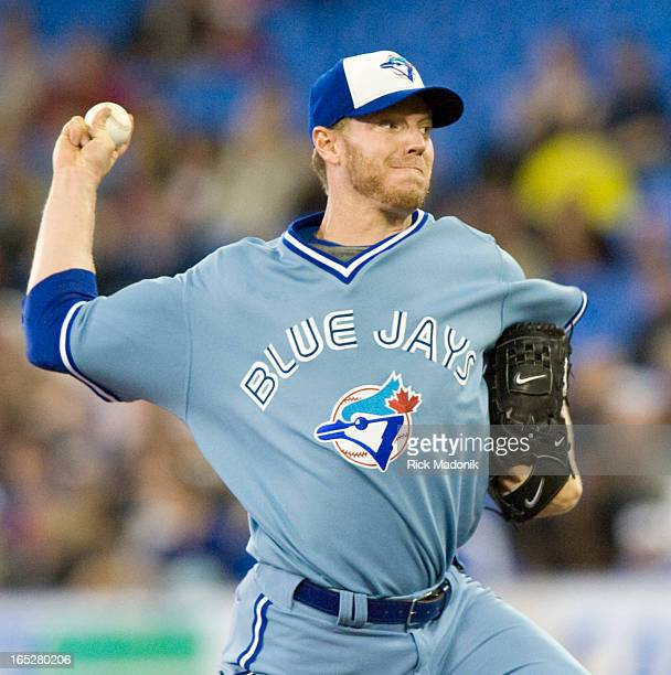 May 23 2008 TORONTO ONTARIO Jays pitcher Roy Halladay during MLB action Friday night at Rogers Centre between Toronto Blue Jays and Kansas City...