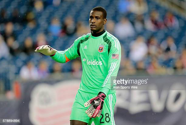 DC United's Bill Hamid in the rain The New England Revolution defeated DC United 21 in a regular season Major League Soccer match at Gillette Stadium...