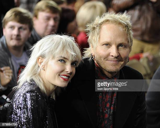 Matt Sorum with his wife Adriane Ace' Harper were in attendance for opening night of The Rolling Stones Zip Code Tour at Petco Park in San Diego...