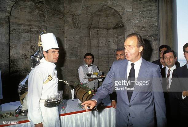 May 25 1993 Istanbul Turkey Official visit of the King of Spain Juan Carlos and Sofia to Turkey In the image Kings visiting the Topkapi Palace