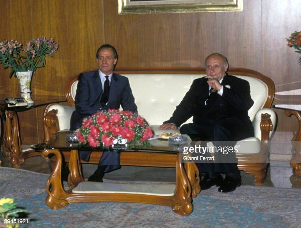 May 25 1993 Istanbul Turkey Official visit of the King of Spain Juan Carlos and Sofia to Turkey The King Juan Carlos with the President Suleyman...