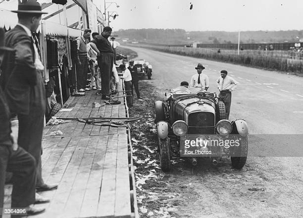 A supercharged Bentley motor car at the 1923 Le Mans 24Hour Race