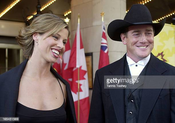FAME_02 May 28 2002Catriona Le May Doan and husband Bart Doan arrive for the Walk of Fame ceremony at the Princess of Wales Theatre in Toronto...