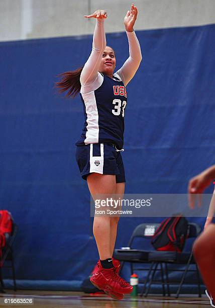Guard Chennedy Carter of Timberview HS in Mansfield TX participates in the 2016 USA Women's U18 World Championship Team Trials at the United States...