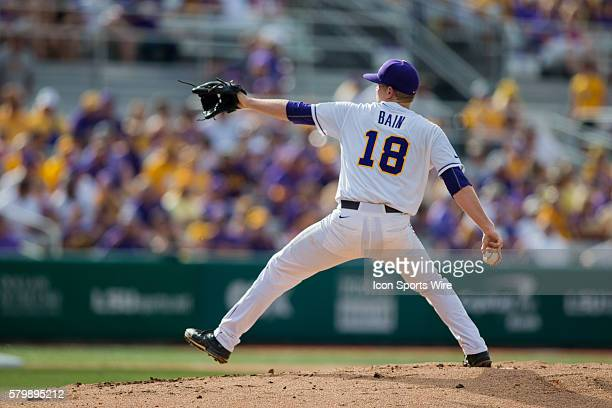 May 29 2015 LSU Tigers pitcher Austin Bain during the game between LSU and Lehigh at Alex Box Stadium in Baton Rouge LA