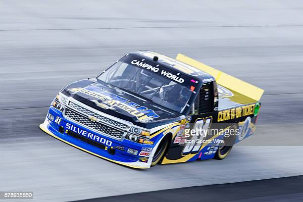Ben Kennedy driver of the Click it or TicketcChevy truck during the Camping World Truck Series Lucas Oil 200 at Dover International Speedway in Dover...