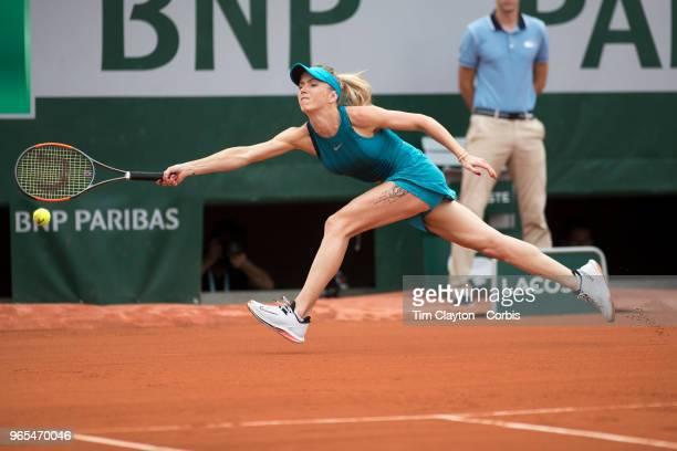 May 30 French Open Tennis Tournament Day Four Elina Svitolina of the Ukraine in action against Viktoria Kuzmova of Slovakia on Court Suzanne Lenglen...