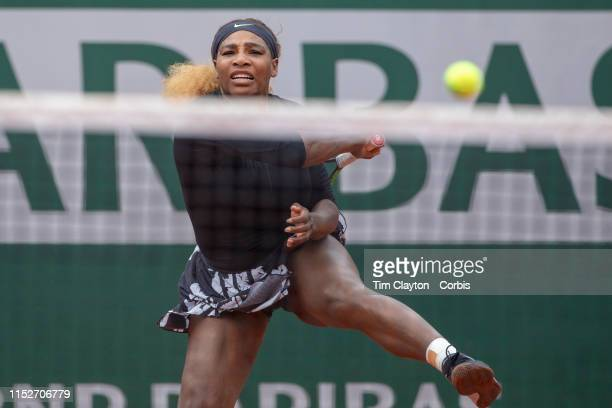 May 30 Serena Williams of the United States in action against Kurumi Nara of Japan during the Women's Singles second round match on Court...