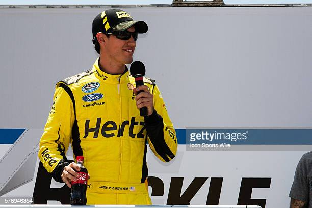 Joey Logano Drivers of the Hertz Ford during driver introductions prior to the Nationwide Series - Buckle Up 200 at Dover International Speedway in...