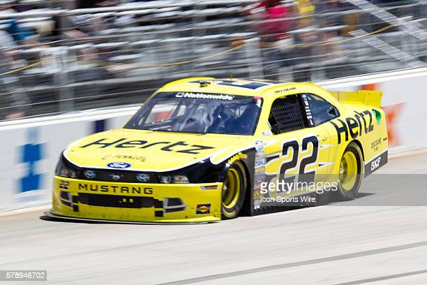 Joey Logano Drivers of the Hertz Ford during the Nationwide Series Buckle Up 200 at Dover International Speedway in Dover DE