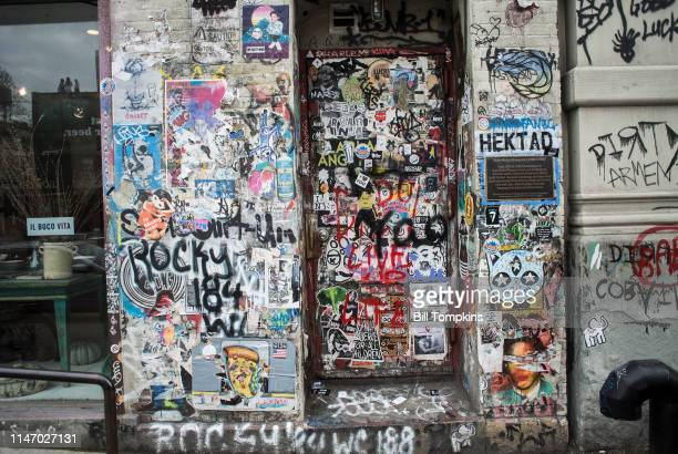 Former studio location of artist JeanMichel Basquiat at 87 Great Jones Street was a former horse stable and owned by Andy Warhol Basquiat worked here...