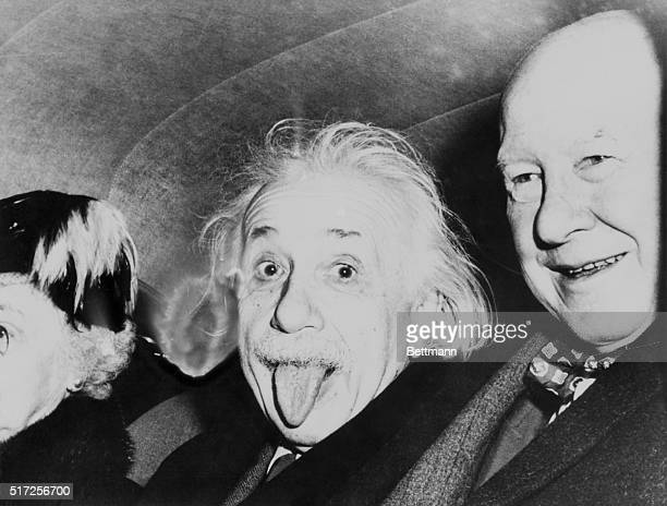 "May 5, 1958-Princeton, New Jersey: Albert Einstein gives the ""Razz""."