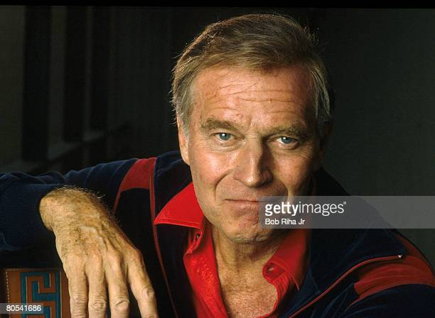 May 5, 1986 file photo of Charlton Heston at home in Los Angeles, California. Heston announced that he may have Alzheimer's disease in a taped...