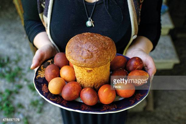 May 6 Gakh Azerbaijan Special bread and colored eggs are usually prepared and eaten for Easter in Azerbaijan On Saint Georges Day a Greek Orthodox...