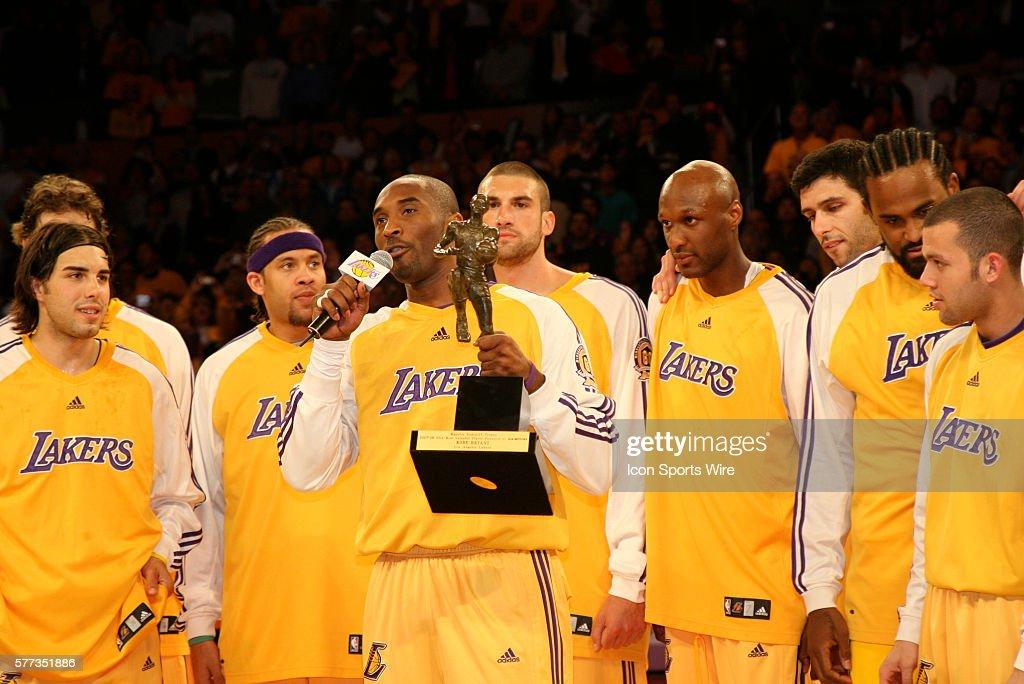 Basketball - NBA - Kobe Bryant wins MVP Award : News Photo