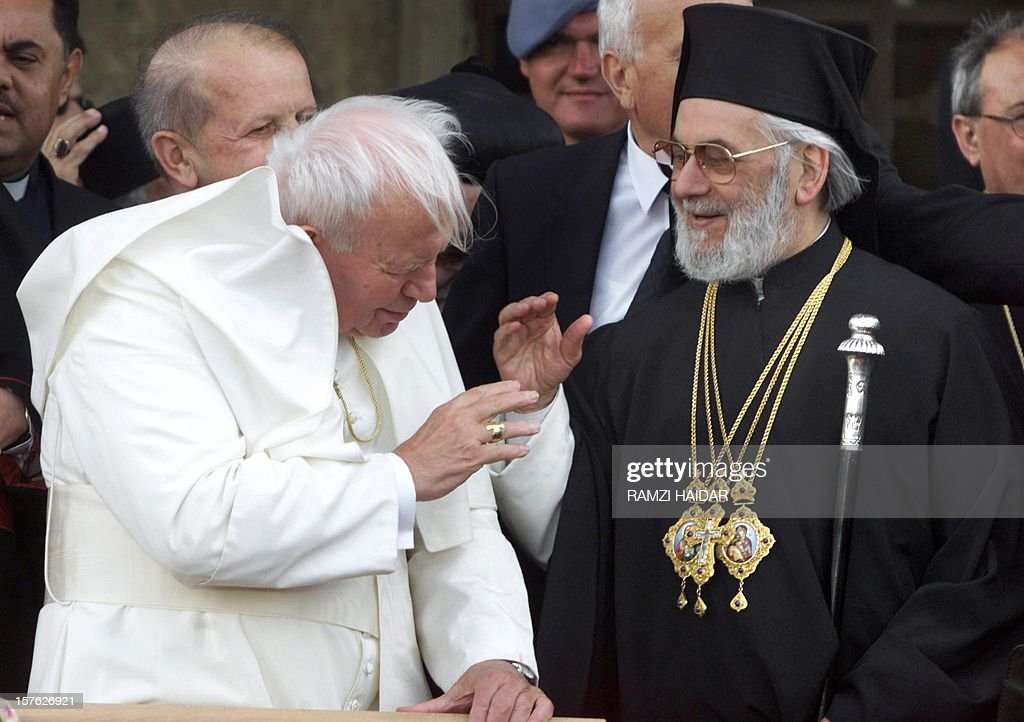 May 7 2001 file photo shows pope john paul ii l and greek may 7 2001 file photo shows pope john paul ii l and m4hsunfo