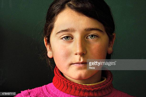 May 7 Khinalig Village Guba district Azerbaijan A student at the only school in the Khinalig Village Located on a summit in the Caucasus Mountains...
