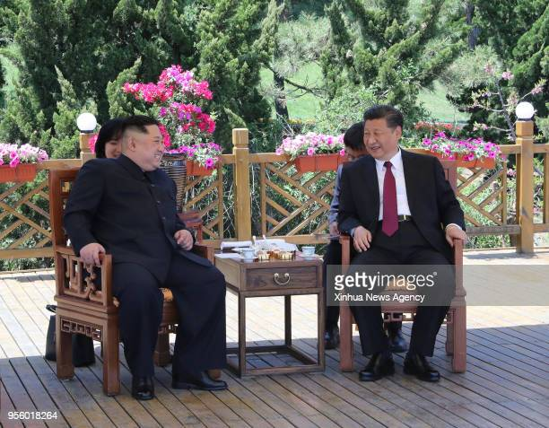 DALIAN May 8 2018 Xi Jinping general secretary of the Central Committee of the Communist Party of China and Chinese president holds talks with Kim...