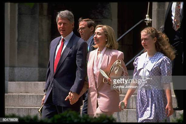 Pres Bill Hillary Rodham Clinton daughter Chelsea during outing