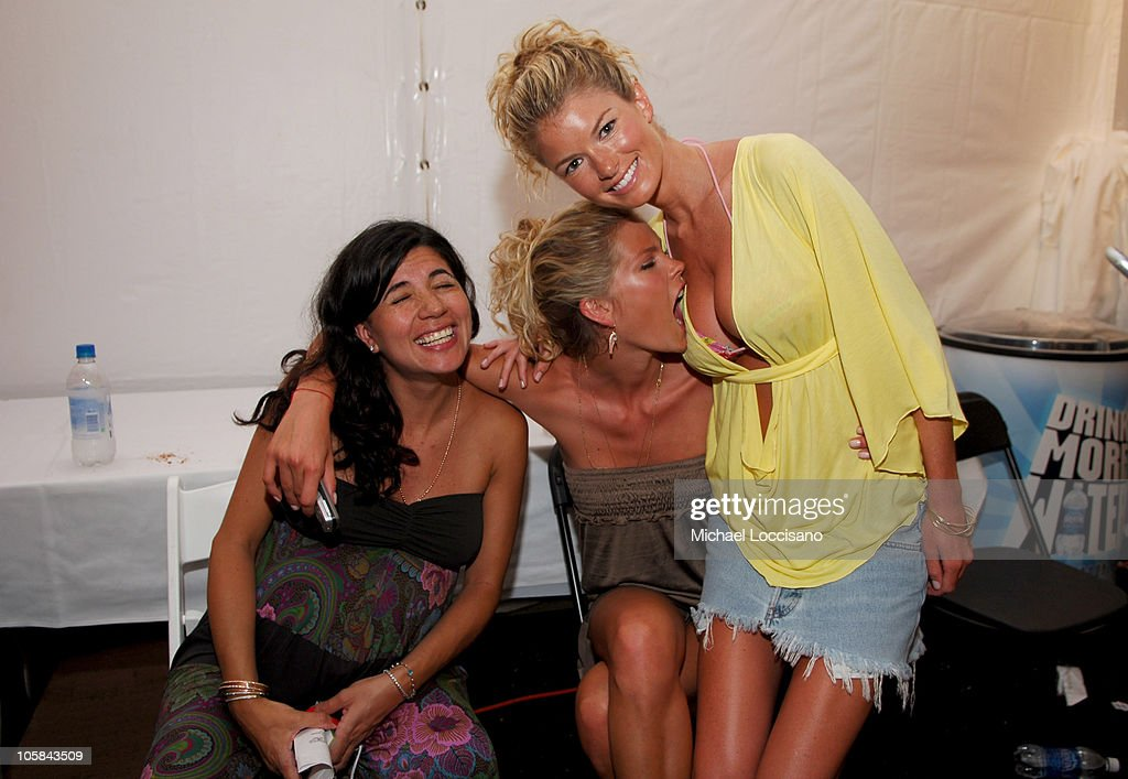 May Andersen and Marisa Miller Backstage at Sais by Rosa Cha