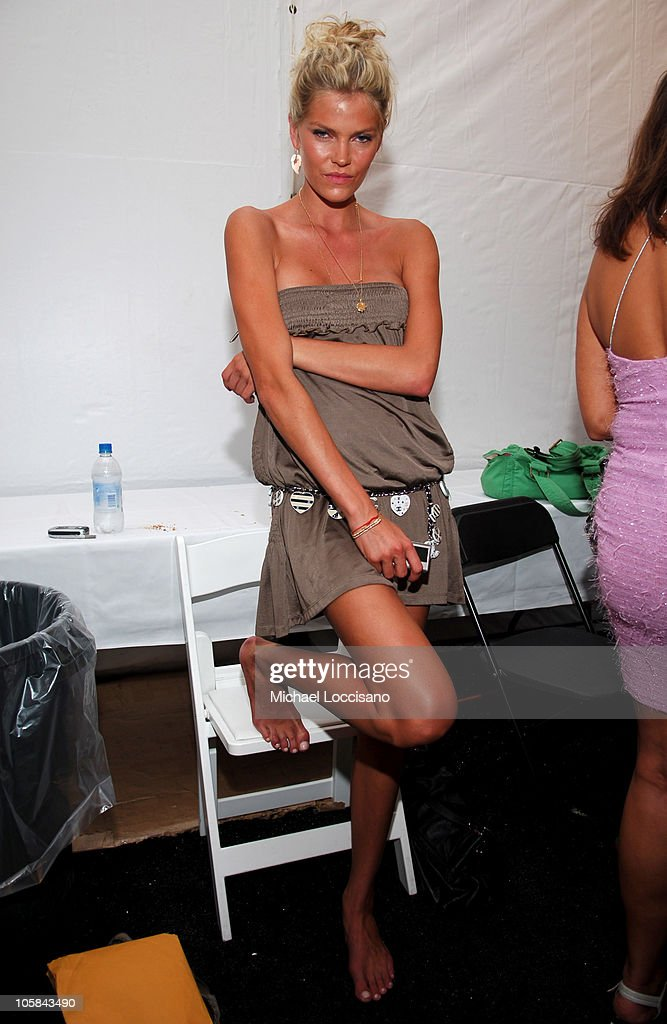 May Andersen Backstage at Sais by Rosa Cha during Sunglass Hut Swim Shows Miami Presented by LYCRA - Sais by Rosa Cha - Backstage at The Raleigh Hotel in Miami, Florida, United States.