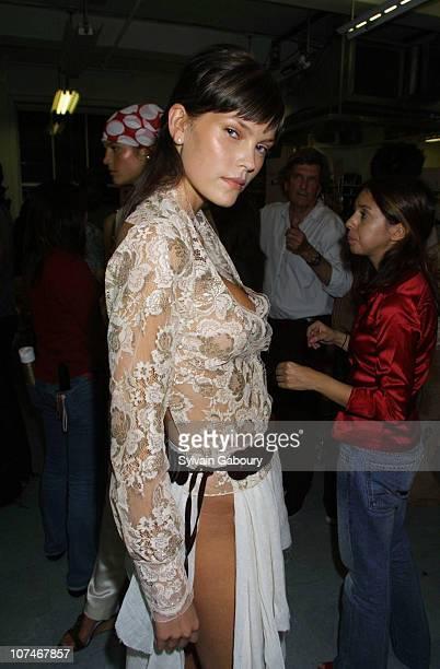 May Andersen during Cynthia Rowley Fashion Show at Cynthia Rowley Showroom in New York New York United States