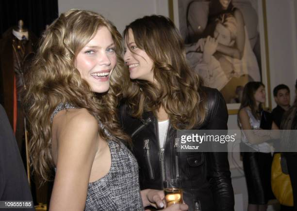 May Andersen Frankie Rayder and Tommy Hilfiger during Tommy Hilfiger H Fall 2004 Collection Backstage and Front Row at Tommy Hilfiger Studios in New...
