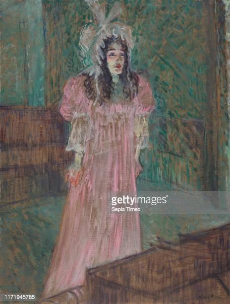 May Belfort 1895 Henri de ToulouseLautrec Oil framed 86 x 715 x 89 cm unframed 63 x 48 cm