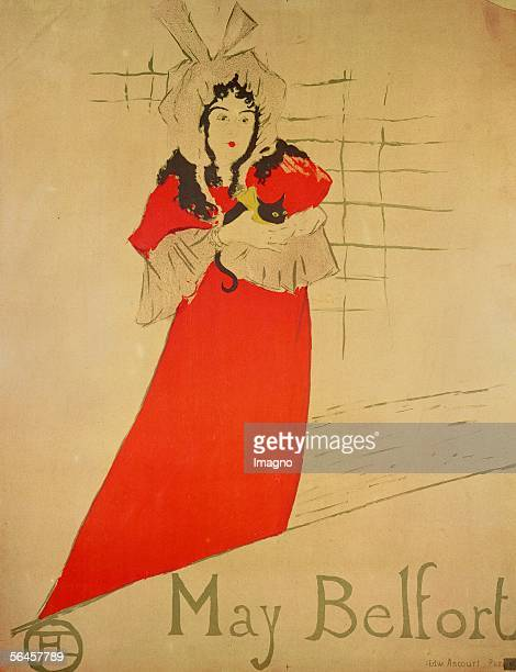 May Belfort 1895 Lithograph 80 x 60 cm RF A 17 Musee ToulouseLautrec Albi France [May Belfort 1895 Lithographie 80 x 60 cm RF A 17 Musee...