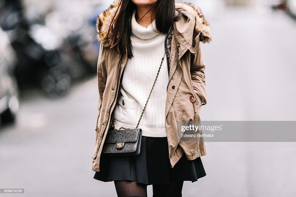 Street Style - Paris - December 2016 : News Photo