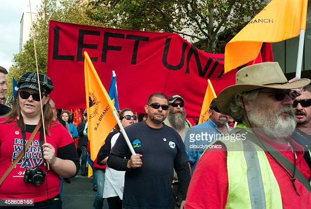 may day march - trade union stock pictures, royalty-free photos & images