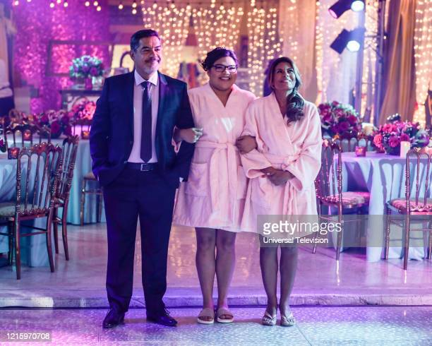 "May I Have This Dance?"" Episode 108 -- Pictured: Carlos Gomez as Rafael Garcia, Belissa Escobedo as Natalie Garcia, Lisa Vidal as Mari Garcia --"